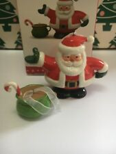 Tea Time Santa Set Christmas Hallmark Keepsake Ornament New In Box