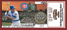 RYNE SANDBERG  2004 Wrigley Field SCRATCHOFF cards Cubs RED BARON COUPON