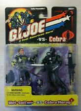 GI JOE REAL AMERICAN HERO VS. COBRA 2001 WET SUIT VS. COBRA MORAY
