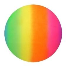 "Rainbow Ball Neon Coloured Ball Rubber Beach Sports Football 9"" 20cm Pride Sport"