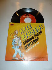 "ARIE RIBBENS - Spring Maar Achterop - 1984 Dutch 7"" Juke Box Vinyl Single"