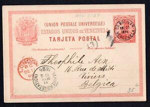 Venezuela Ciudad Bolivar 1896 postcard used RARE! R!R!
