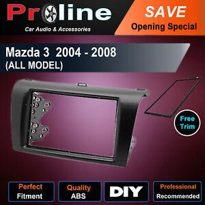 Mazda 3 2004 - 2008 Radio Double 2 Din fascia dash facia trim kit surround au