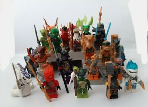 NEUF gros lot 24 figurines personnages ninjago serpent overlord  envoi IMMEDIAT