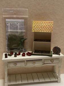 Vintage Artisan Paper Litho Bliss Miniature Dollhouse Furniture Topiary Kit 1:12
