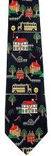 School Bus Route Mens Necktie Black Neck Tie Teacher Driver Novelty Gift New