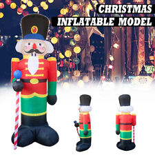 2.4M Inflatable Nutcracker Santa Christmas Decoration Garden Outdoor LED Lights