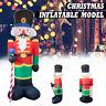 2.4M Inflatable Nutcracker Santa Christmas Decoration Garden Outdoor LED Lights