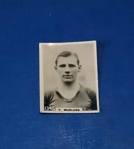 CLYDE FOOTBALL CLUB 1920s PINNACE B+W PHOTO CARD T McCLURE # 1345 CFC SCOTLAND