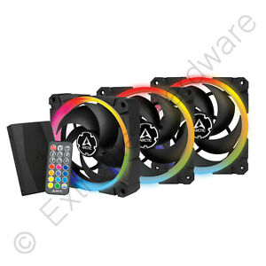 Arctic BioniX P120 A-RGB 3 x 120mm PWM Case Fans & Controller Addressable RGB