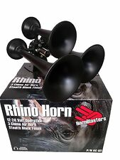 Hornblasters Rhino 3 Trumpet Black LOUD Real Train Horn