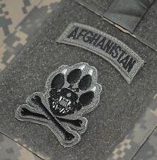 ELITE PROFESSIONAL TALIBAN WHACKER velkrö burdock 2-TAB ACU: K-9 + AFGHANISTAN