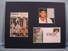 Red Sox Great Ted Williams & Rockwell painting & First Day Cover