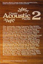Classic Acoustic Playlist 2 Learn Play Rock Pop Songs Guitar Lyrics Music Book