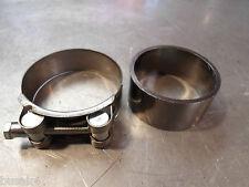 SUZUKI AN 400 BURGMAN 07-12 EXHAUST MUFFLER SILENCER REPAIR GASKET & CLAMP NEW