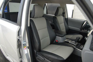 TOYOTA 4RUNNER 2010-2014 IGGEE S.LEATHER CUSTOM SEAT COVER 13COLORS AVAILABLE