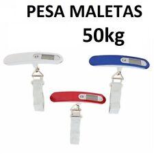 BASCULA DE MALETAS HASTA 50 KILOS DIGITAL PESO DE EQUIPAJE BALANZA PESA VIAJE