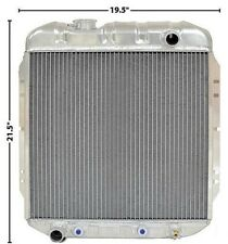 1965-66 Mustang 1964-65 Falcon Radiator OE Style Aluminum 2 Row  I-6 Left Outlet