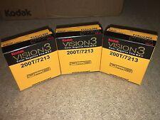 3 rotoli di Kodak v3 SUPER 8mm Colore pellicola negativa 200t 7213 RIVENDITORE UFFICIALE
