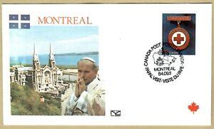 Ersttagsbrief FDC Papst Johannes Paul II  MONTREAL Kanada 1984
