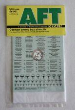 Archer 1/35 German WWII Ammo Box Stencils Unp.Rifle, 20/37/50mm (Black) AR77001B