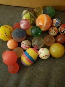 25~Vintage Super Bounce Balls~Bouncy Rubber Balls~Vintage Vending~Rainbow🌈Swirl