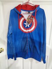 NWT - Men's Marvel - Captain America - Zip-Up - Hooded Jacket - Size M (38-40)