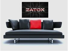 "ZATOX BORDERLESS MOSAIC TILE WALL POSTER 47"" x 25"" HARDSTYLE BASS GABBA"