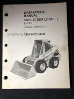 New Holland Skid Steer Loader L-775 Operator's Manual *277-279