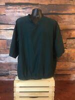 FootJoy Jacket Men's Golf Pullover Size XL Green V-neck Outerwear Windbreaker
