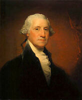 Handpainted Oil painting male portrait George Washington President of America