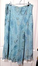 Ladies Target flared long skirt size 16 Light green floral