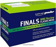 Kaplan PMBR FINALS: MBE Review Flashcards W/ CIVIL PROCEDURE