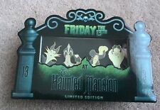 Disney Friday the 13th Haunted Mansion Glow-in-the-Dark Villains Bust 4-Pin Set