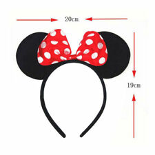 Minnie Mouse Ears Bow Cosplay Headband Night Women Girl Mickey Party Fancy Dres*