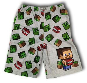 New officially licensed Boys Minecraft Pajama Short SIZE X-SMALL (4-5)
