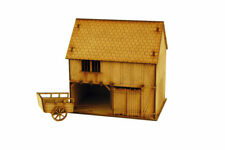 TIMBER FRAMED CART SHED & CART 28mm Building Terrain L006
