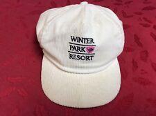 97ee350f148 Vintage Winter Park Resort Colorado Hat Strapback Cap White Corduroy Skiing