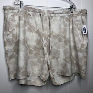 Old Navy Linen shorts women's size XXL tie dyed drawstring waist pockets NWT