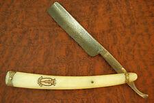 VINTAGE STRAIGHT RAZOR KNIFE BLUE DIAMOND GRAH & PLUMACHER GERMANY FANCY (1368)