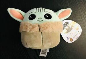 "Squishmallows 5"" Plush Stuffed Toy Baby Yoda The Child Mandalorian Disney NEW!"