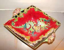 Royal Winton Red Dragon Lustre Luster Handled Footed Diamond Shaped Bowl