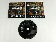 Jeu Playstation 1 PS1 VF en loose  Quake II et notice jaquette avant Envoi suivi