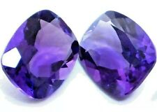 AWESOME NATURAL CUSHION-CUT DEEP-PURPLE AMETHYST LOOSE GEMSTONES PAIR 10 x 8 mm