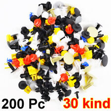 200 Pcs Mixed Car Door Bumper Fenders Fastener Retainer Rivet Push Pin Clip