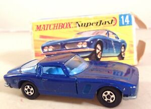 """Matchbox Superfast No: 14 """"Iso Grifo"""" - Dark Blue boxed"""