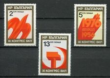 37732) BULGARIA 1976 MNH** Bulgarian Communist Party 3v