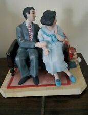 Norman Rockwell The Courtin' Couple Sneezing Spy Figurine #624 of 2500 no base