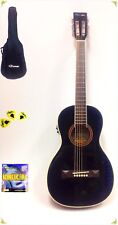 30 Slashed Caraya Parlor Guitar Ebony 590 With EQ Gig Bag