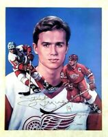 STEVE YZERMAN Signed Lithograph 11 x 14 Detroit Red Wings Autograph Numbered
